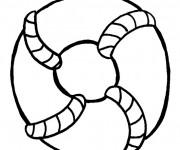 Coloriage et dessins gratuit Dessin d'une roue de sauvetage à imprimer