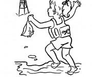 Coloriage et dessins gratuit Fille demande le secours à imprimer