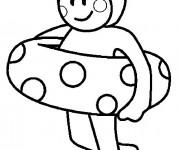 Coloriage et dessins gratuit Petit nageur à imprimer