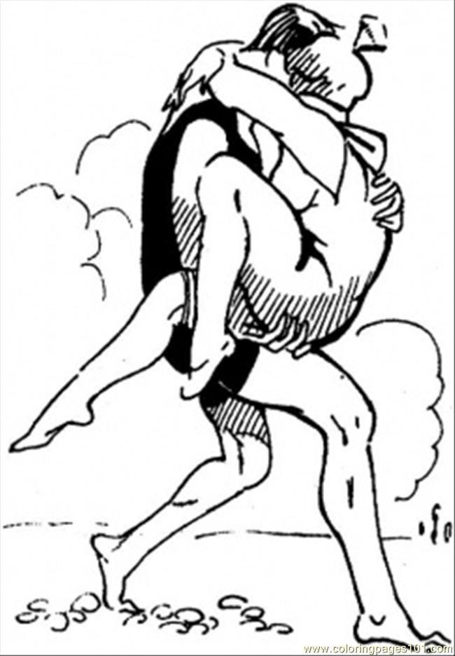 Coloriage et dessins gratuits Sauveteur sauve une nageur à imprimer