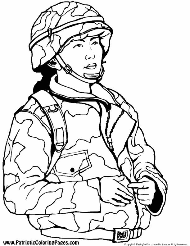 Coloriage dessin militaire couleur dessin gratuit imprimer - Dessin de militaire ...