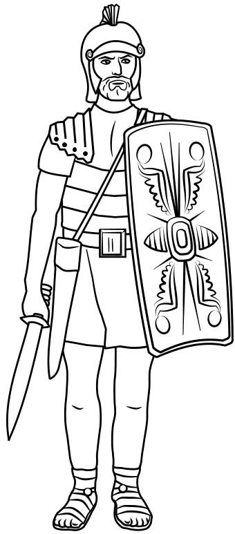 Coloriage et dessins gratuits Légionnaire ancien à imprimer