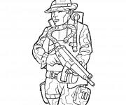 Coloriage dessin  Militaire 3