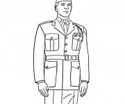 Coloriage et dessins gratuit Militaire couleur à imprimer