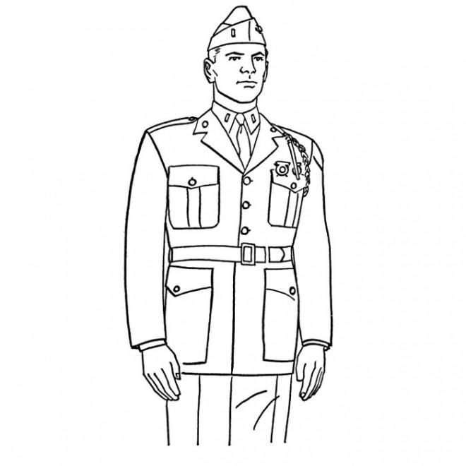 Coloriage militaire couleur dessin gratuit imprimer - Dessin de militaire ...