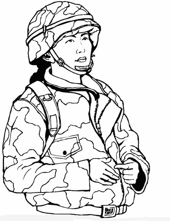 Coloriage et dessins gratuits Militaire Féminine à imprimer