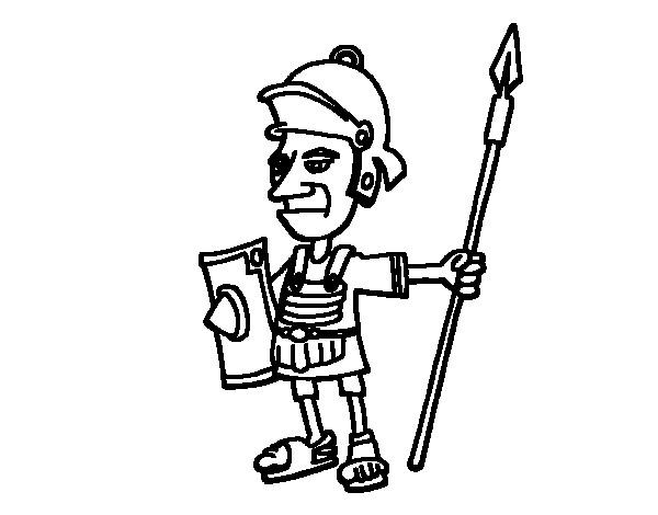 Coloriage petit soldat de l 39 empire romain dessin gratuit imprimer - Coloriage petit soldat ...