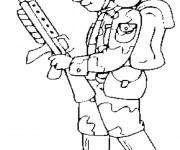 Coloriage dessin  Soldat 4