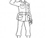 Coloriage dessin  Soldat 7