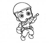 Coloriage et dessins gratuit Soldat bébé à imprimer