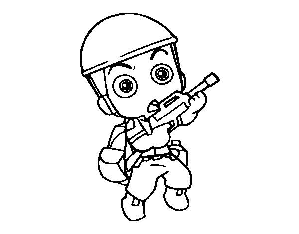 Coloriage et dessins gratuits Soldat bébé facile à imprimer