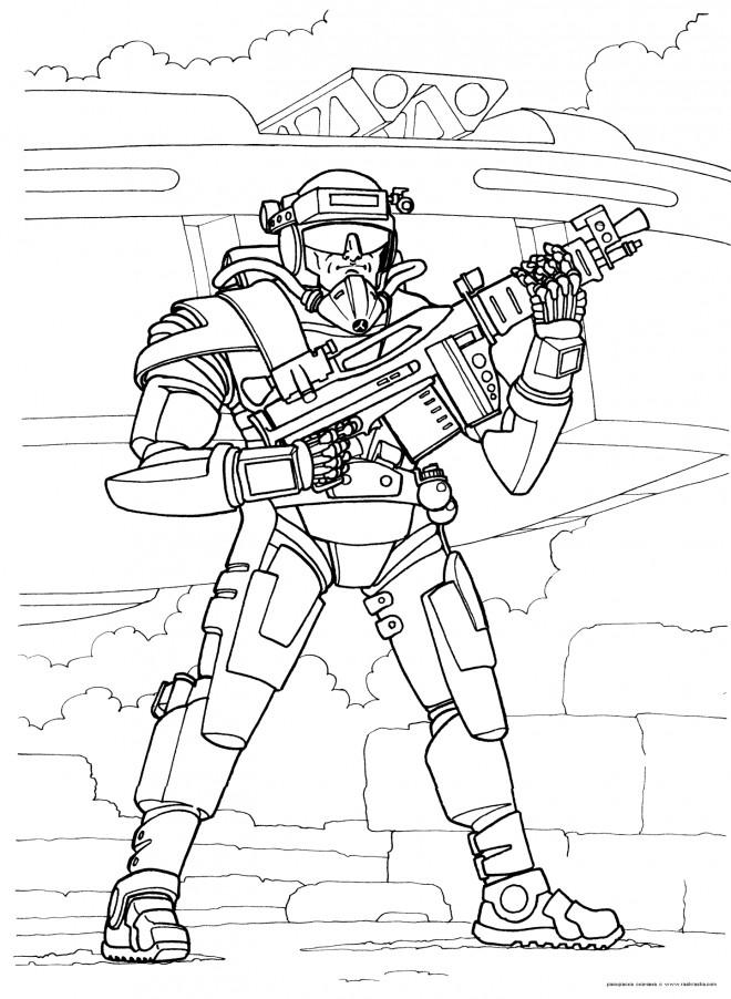 Coloriage soldat de futur dessin gratuit imprimer - Dessin de soldat ...
