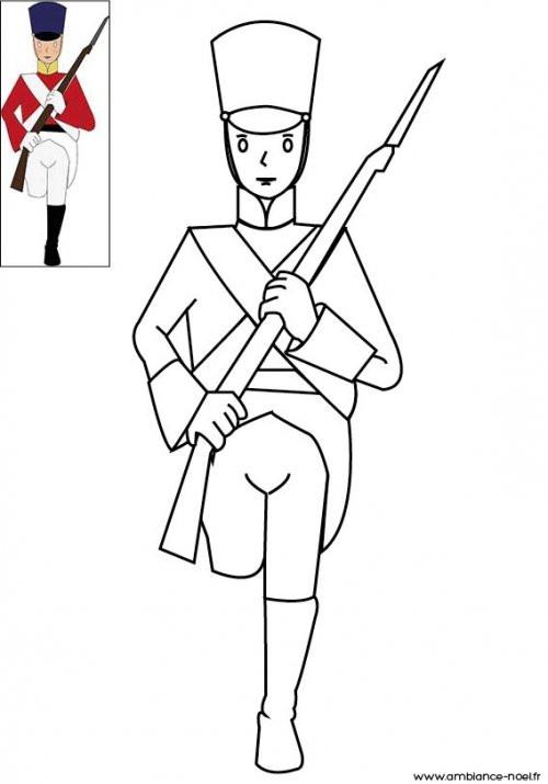 Coloriage et dessins gratuits Soldat de l'armée de napoleon à imprimer