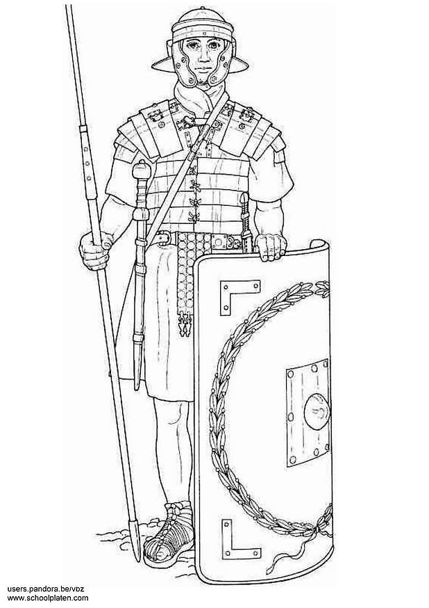 Coloriage et dessins gratuits Soldat de l'armée romaine à imprimer