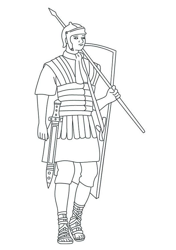 Coloriage et dessins gratuits Soldat de Rome à imprimer