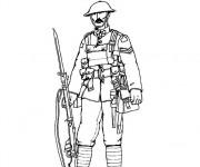 Coloriage et dessins gratuit Soldat dessin en couleur à imprimer