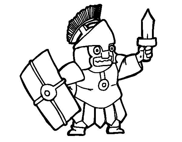 Coloriage et dessins gratuits Soldat drôle à imprimer