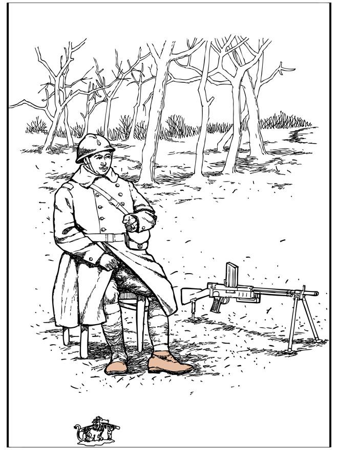Coloriage et dessins gratuits Soldat du passé à imprimer