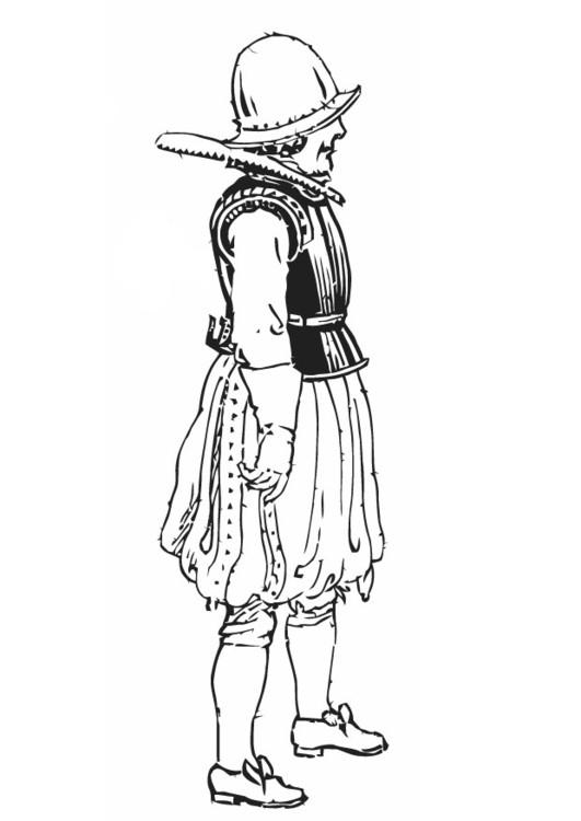 Coloriage soldat espagnole dessin gratuit imprimer - Dessin de soldat ...