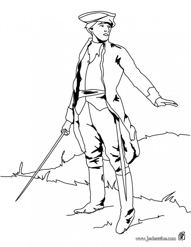 Coloriage et dessins gratuits Soldat européen ancien à imprimer
