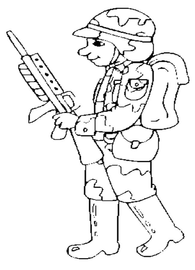 Coloriage et dessins gratuits Soldat facile à imprimer