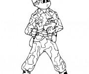 Coloriage et dessins gratuit Soldat guerre à imprimer