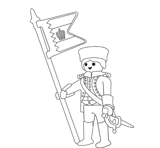 Coloriage et dessins gratuits Soldat Lego à imprimer