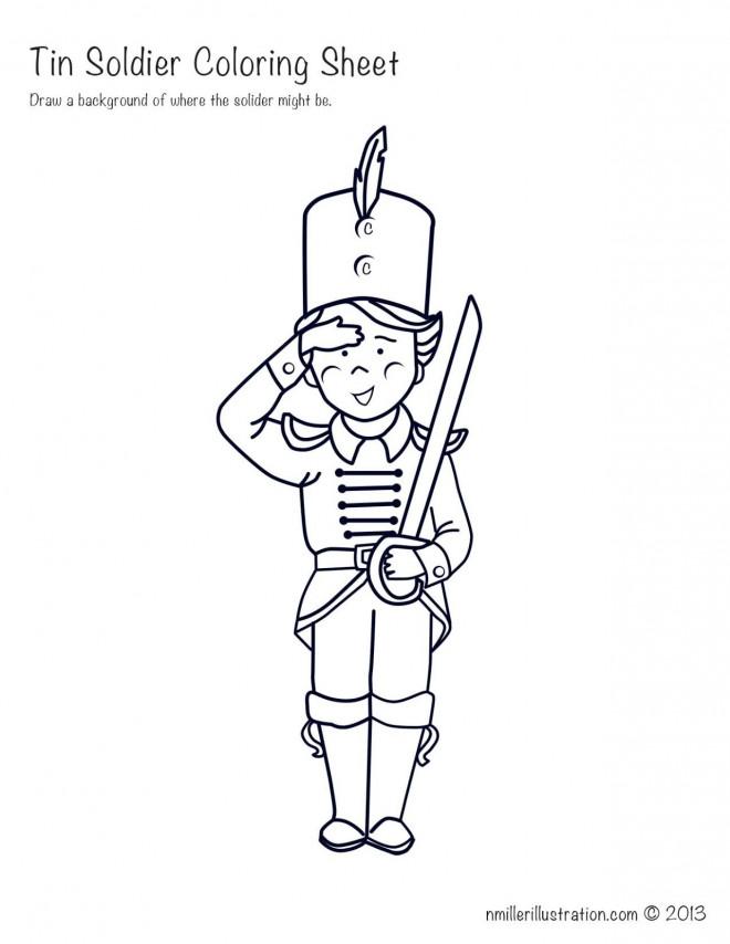 Coloriage et dessins gratuits Soldat mignon à imprimer