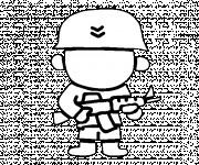 Coloriage soldat petit enfant dessin dessin gratuit imprimer - Coloriage petit soldat ...