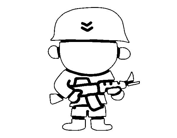 Coloriage et dessins gratuits Soldat petit enfant dessin à imprimer