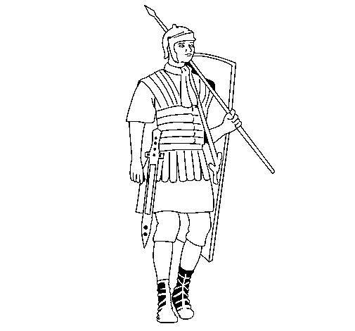 Coloriage et dessins gratuits Soldat romain en ligne à imprimer