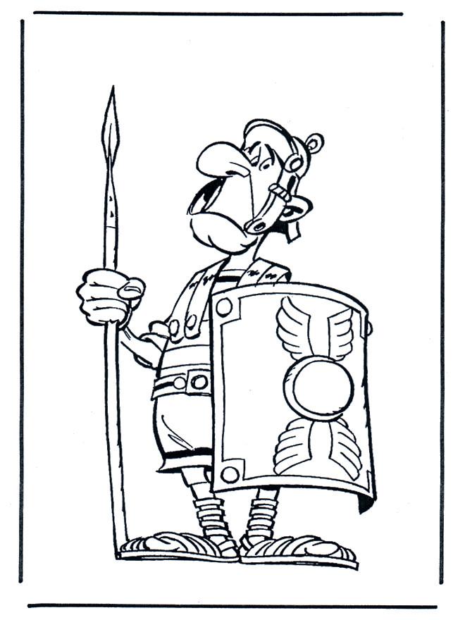 Coloriage et dessins gratuits Soldat romain rigolo à imprimer