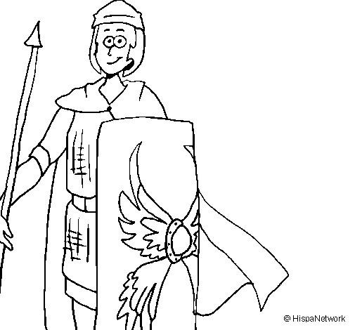 Coloriage et dessins gratuits Soldat souriant dessin à imprimer