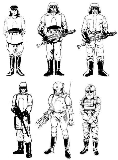 Coloriage et dessins gratuits Soldat Star Wars à imprimer
