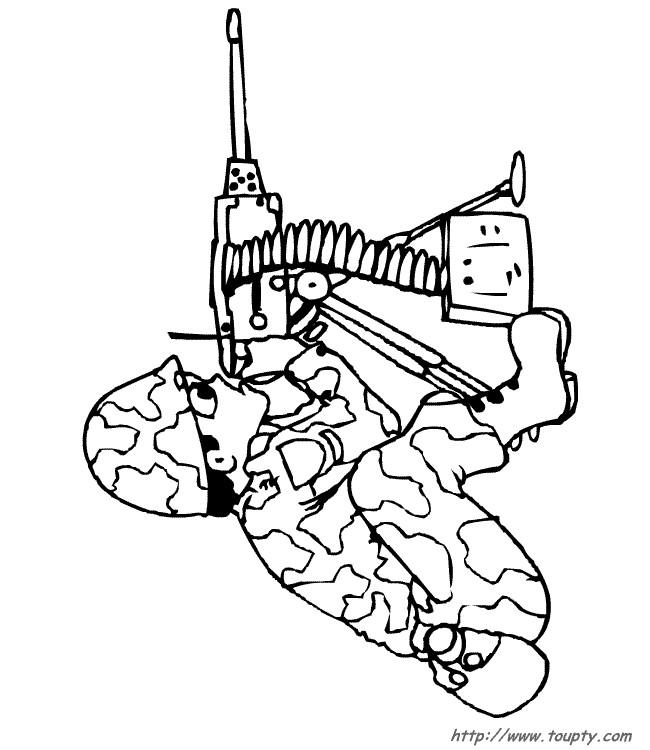 Coloriage et dessins gratuits Soldat tire à imprimer