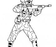 Coloriage et dessins gratuit Soldat vise à imprimer