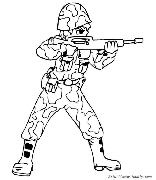 Coloriage et dessins gratuits Soldat vise à imprimer