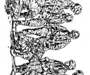 Coloriage et dessins gratuit Soldats en guerre à imprimer