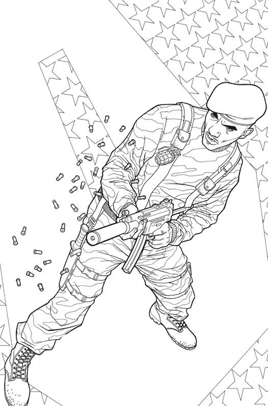 Coloriage et dessins gratuits Un soldat du film GI -Joe tire sur l'ennemi à imprimer