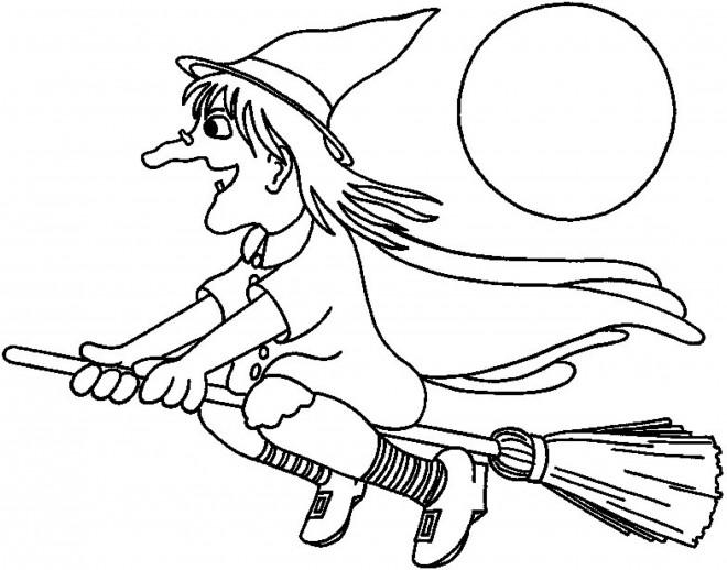 Coloriage et dessins gratuits Image de sorcière à imprimer