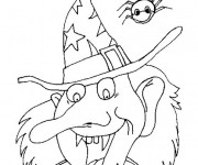 Coloriage et dessins gratuit Sorcière Halloween à imprimer