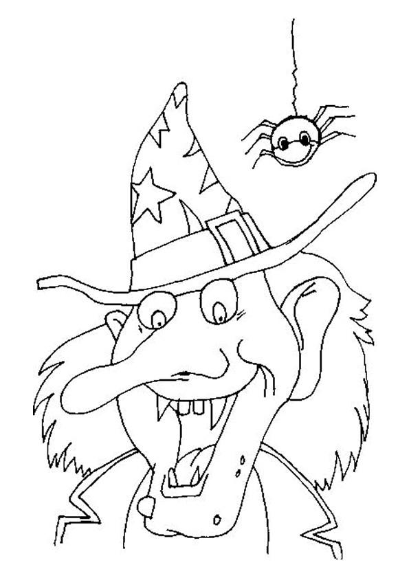 Coloriage et dessins gratuits Sorcière Halloween à imprimer