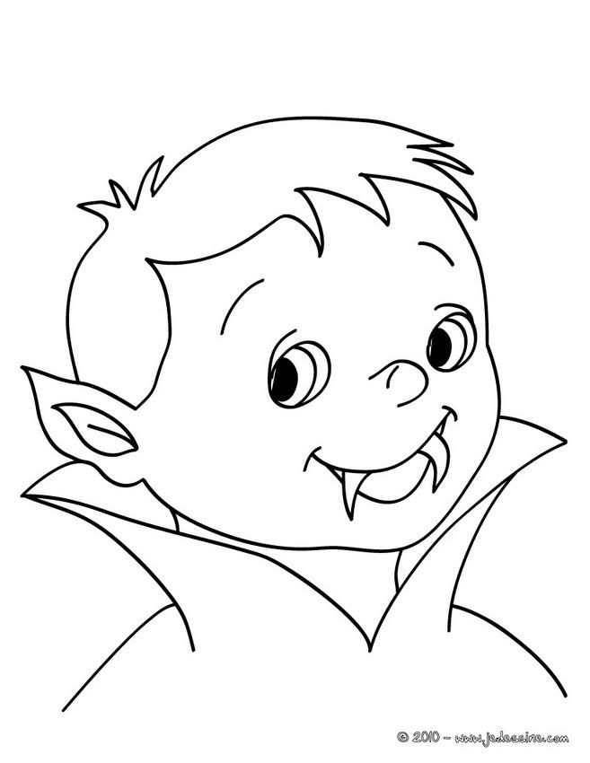 Coloriage et dessins gratuits Bébé Vampire à imprimer