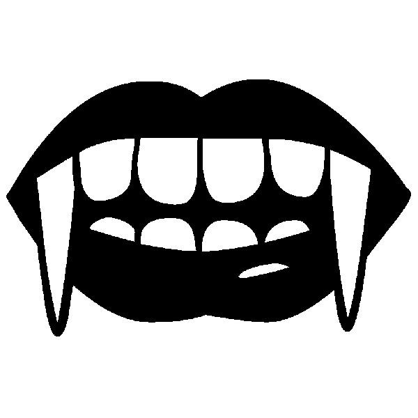 Coloriage dents de vampire dessin gratuit imprimer - Bouche en dessin ...