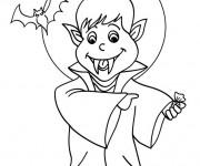 Coloriage et dessins gratuit Dessin de Vampire à imprimer