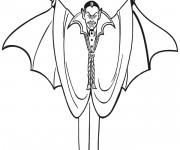 Coloriage et dessins gratuit Dessin de Vampire couleur à imprimer