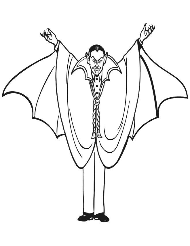 Coloriage et dessins gratuits Dessin de Vampire couleur à imprimer