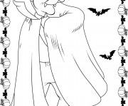 Coloriage Dessin sur Halloween
