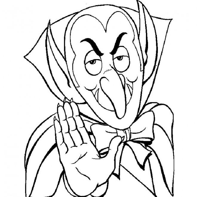 Coloriage et dessins gratuits Halloween Vampire à imprimer