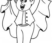Coloriage et dessins gratuit Jeune Vampire à imprimer